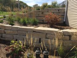 Silver Creek Stone Outcropping Retaining Wall