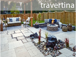 travertina concrete slab