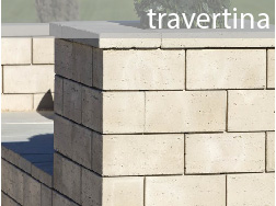 travertina concrete wall