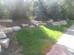 Silver Creek Outcroppings installed by Wavecrest Nursery