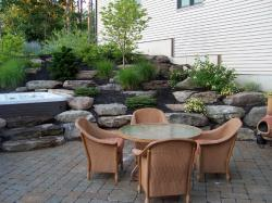 Pennsylvania Fieldstone Boulders installed by Landscape Solutions