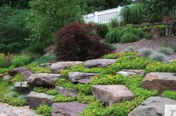 Pennsylvania Fieldstone Boulders installed by Blue Ridge Landscaping