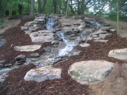 Pennsylvania Fieldstone in a water feature installed by Ridgeview Landscaping