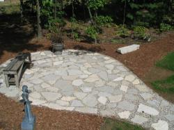 Silver Creek Flagstone Patio installed by Kramer Services