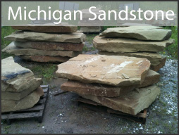 michigan sandstone stone step