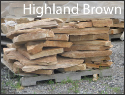 highland brown random wall stone